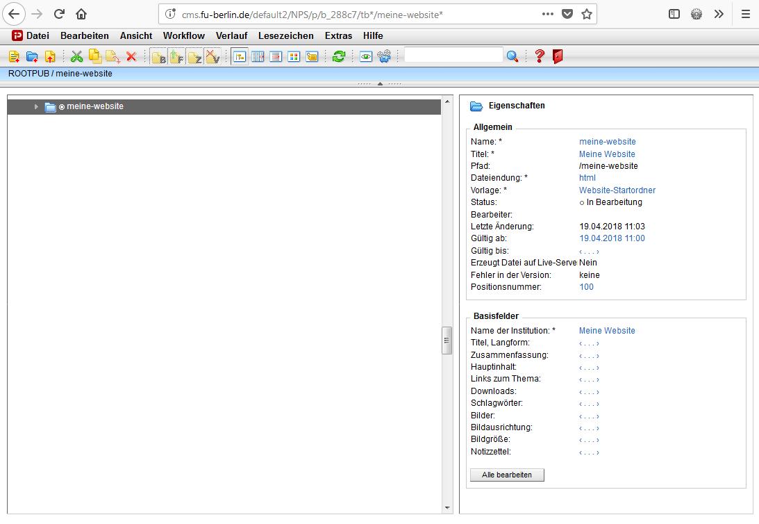 Übung 1: Untersuchen Sie die Struktur Ihrer Website im CMS • Content ...
