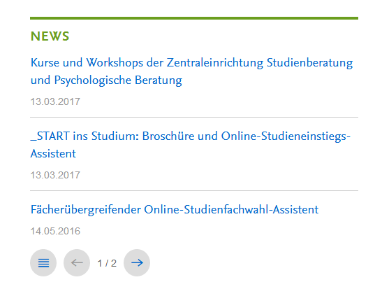News • Content Management • Center für Digitale Systeme